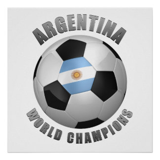 ARGENTINA SOCCER CHAMPIONS POSTER