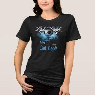 Argentina Soccer Goal Ladies Plus Size T-Shirt