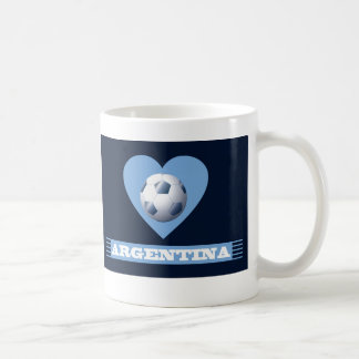 ARGENTINA Soccer Heart and Scarf Brazil 2014 Coffee Mug