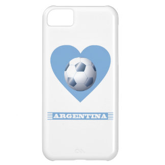 ARGENTINA Soccer Heart and Scarf Brazil 2014 Cover For iPhone 5C