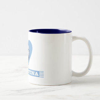 ARGENTINA Soccer Heart and Scarf Brazil 2014 Two-Tone Coffee Mug