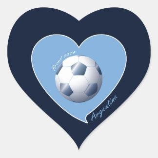 ARGENTINA Soccer Heart of Champions Brazil 2014 Heart Sticker