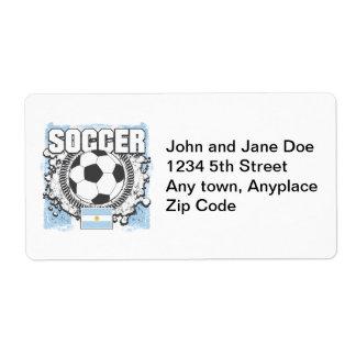 Argentina Soccer Label
