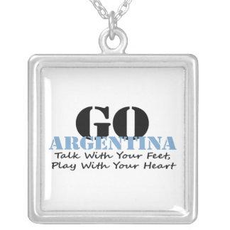 Argentina Soccer Custom Necklace