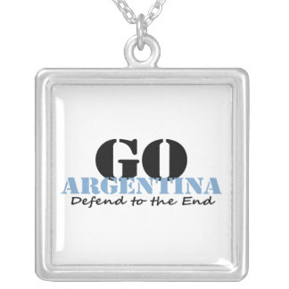 Argentina Soccer Personalized Necklace