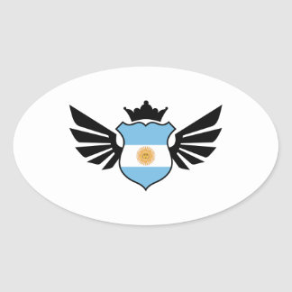 Argentina soccer oval sticker