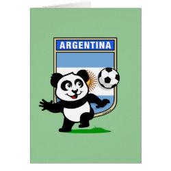 Greeting Card with Argentina Football Panda design