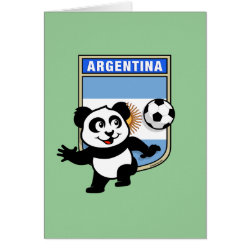 Greeting Card with Argentina Football Panda design