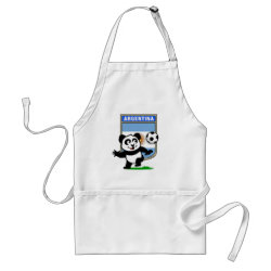 Apron with Argentina Football Panda design