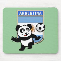 Mousepad with Argentina Football Panda design