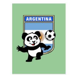 Postcard with Argentina Football Panda design