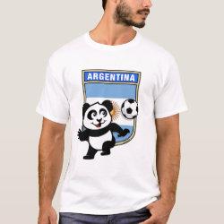 Men's Basic T-Shirt with Argentina Football Panda design