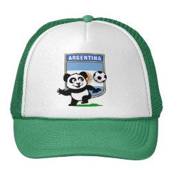Trucker Hat with Argentina Football Panda design