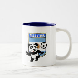 Two-Tone Mug with Argentina Football Panda design