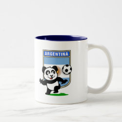 Two-Tone Mug with Argentina Football Panda design