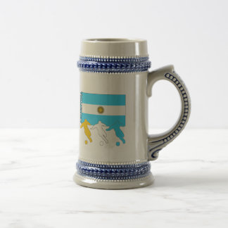 Argentina Soccer Players Beer Stein