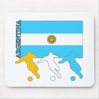 Argentina Soccer Players Mouse Pad