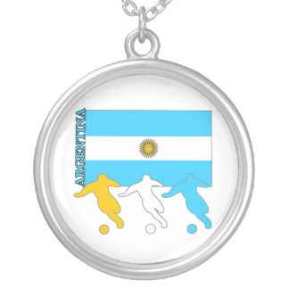 Argentina Soccer Players Necklace