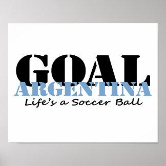 Argentina Soccer Poster
