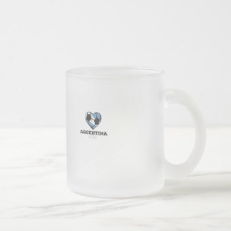Argentina Soccer Shirt 2016 Frosted Glass Coffee Mug