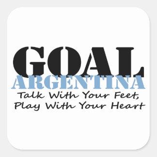 Argentina Soccer Square Sticker