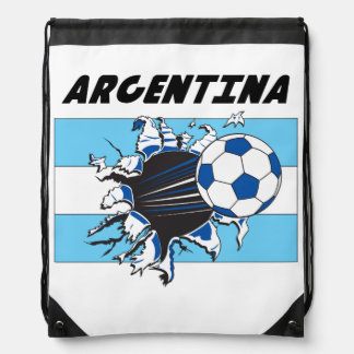 Argentina Soccer Team Drawstring Bag