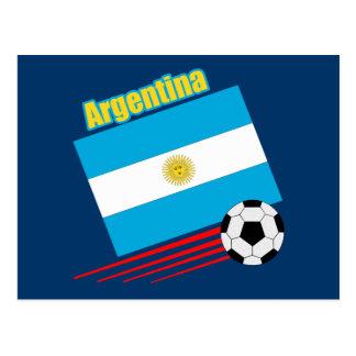Argentina Soccer Team Postcard