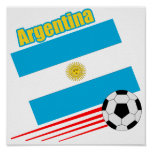 Argentina Soccer Team Poster