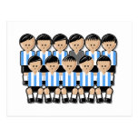Argentina soccer team tarjeta postal