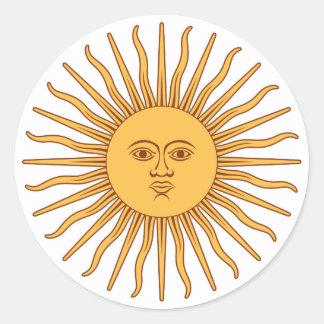 Argentina Sol de Mayo Classic Round Sticker