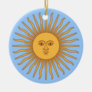 Argentina Sol de Mayo Christmas Ornament