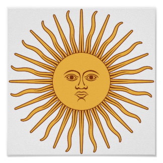 Argentina Sol de Mayo Print