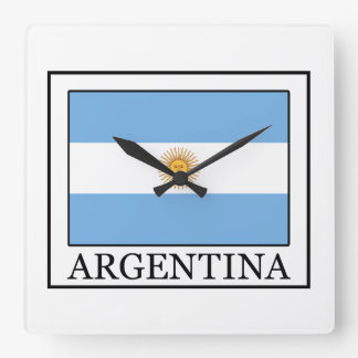 Argentina Square Wall Clock