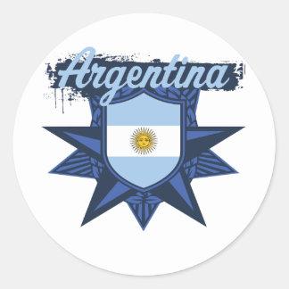 Argentina Star Classic Round Sticker