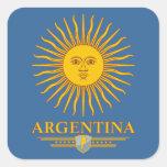 """Argentina Sun "" Calcomanía Cuadrada"
