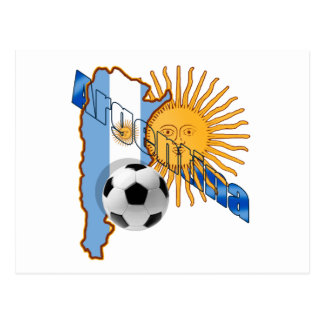 Argentina Sun flag map of Argentina gifts Postcard