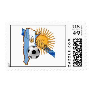Argentina Sun flag map of Argentina gifts Stamps
