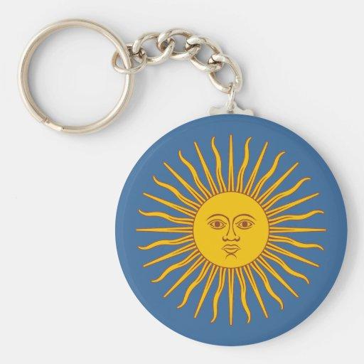 """""""Argentina Sun """" Llavero Redondo Tipo Pin"""