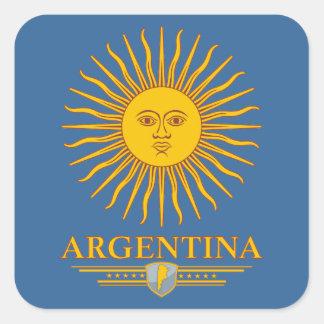 """Argentina Sun "" Pegatina Cuadrada"