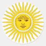Argentina Sun Round Sticker