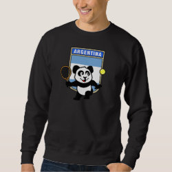 Men's Basic Sweatshirt with Argentina Tennis Panda design