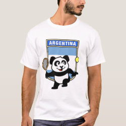 Men's Basic T-Shirt with Argentina Tennis Panda design
