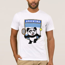 Men's Basic American Apparel T-Shirt with Argentina Tennis Panda design