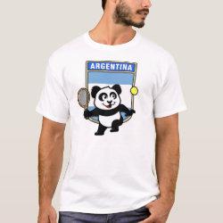 Men's Basic T-Shirt with Argentina Tennis Panda design