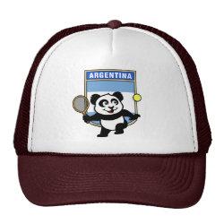 Trucker Hat with Argentina Tennis Panda design