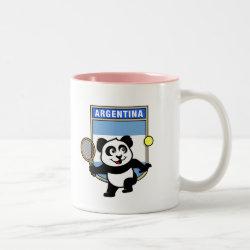 Two-Tone Mug with Argentina Tennis Panda design
