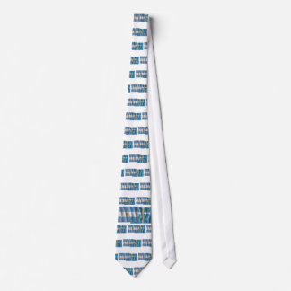 Argentina & Tucumán waving flags Neck Tie