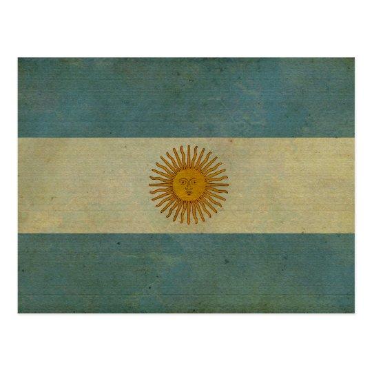 Argentina Vintage aged retro Argentina flag Postcard