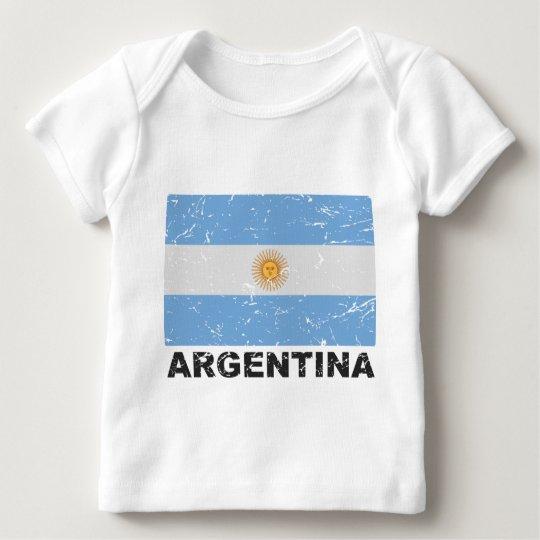 Argentina Vintage Flag Baby T-Shirt