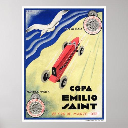 Argentina Vintage Travel Poster Restored
